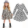 2016 fashion spring and autumn irregular girls shirt dress loose long-sleeve blouse children outerwear trench kids casual coat