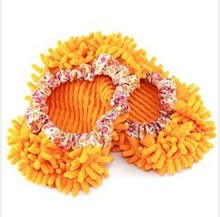 Wholesale daily household chenille microfiber lazy wipe slippers shoes