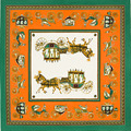 130 130 100 Twill Silk Euro Royal Household Horse Carriage Trip Women Square Scarf Spring Female