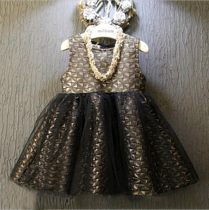 Фотография Christmas Girls Childrens Tutu Lace Dress Sleeveless Fashion Vest Autumn Winter Party Kids Princess Dresses ZZ-1012