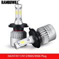 Rambowill COB Chips 72W 8000Lm H4 H7 H11 H13 9005 9006 Plug Car Headlight Led Driving