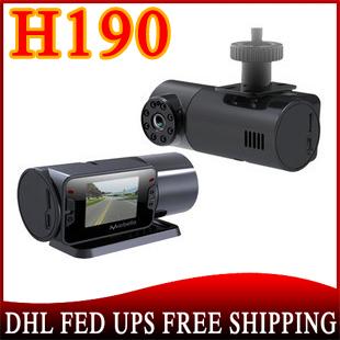 5pcs/lot Car Camera HD 720P Vehicle IR DVR Dashboard Recorder H190(China (Mainland))
