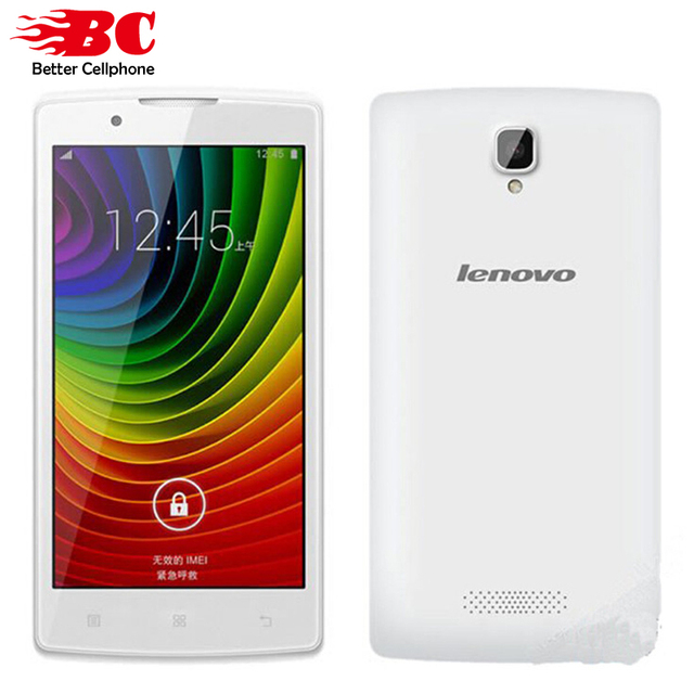 "Оригинал Lenovo A2860 Смартфон 4.5 ""480x854 MT6735 Quad Core Android 4.4 GPS 512 МБ RAM 4 ГБ ROM 5.0MP Камера Dual Micro SIM"