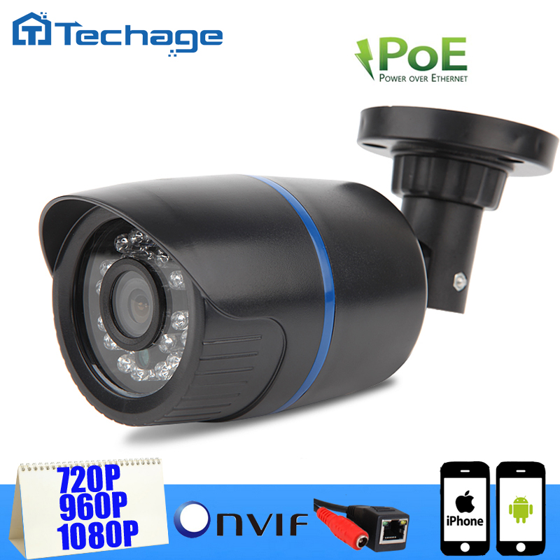 Low Illumination 720P 960P 1080P POE IP Camera 48V Power Over Ethernet IR Bullet IP Camera Outdoor Indoor ONVIF ABS Plastic(China (Mainland))