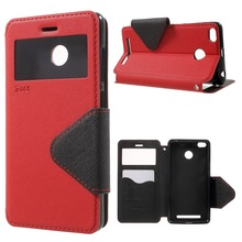Buy Xiaomi Redmi 3s 5.0 inch Mobile Phone Cases ROAR KOREA View Window Leather Cell Bag Shell Case Cover Xiaomi Redmi 3 S for $6.23 in AliExpress store