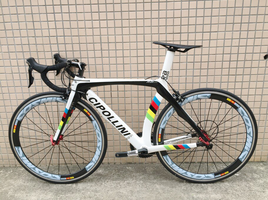 White Cipollini RB1K Carbon Road Complete Bicycle Bike With 50mm Full carbon wheelset groupset handlebar cables(China (Mainland))