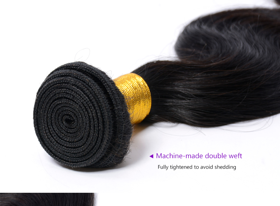 Iwish Brazilian Body Wave Hair 100% Human Hair Weave Bundles 1pc Free Shipping 10-28 inch Non-Remy Hair Extensions Double Weft