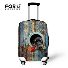 New Trendy 3D Dog Print Thick Luggage Lrotective Cover For 18/20/22/24/26/28/30 Inch Case Elastic Luggage Cover Travel Bag Cover(China (Mainland))