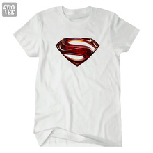 Superman  short sleeve t-shirts Tee Captain America Superman VS Batman superhero 100% cotton Super Heroes summer tee 2016 new