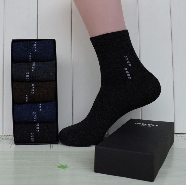 Brand man keep warming socks for leather shoes wholesale price dropshipping classic business High Quality five