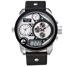 Weide WH2305 Relogios cuero Skmei reloj de vestir hombres de lujo de cuarzo analógico reloj militar deportes alta calidad 3 viuda pantalla