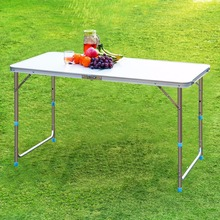 Finether Folding Outdoor Table Ultralight Height-Adjustable Aluminum Portable Table for Dining Picnic Camping BBQ Party Camping(China (Mainland))