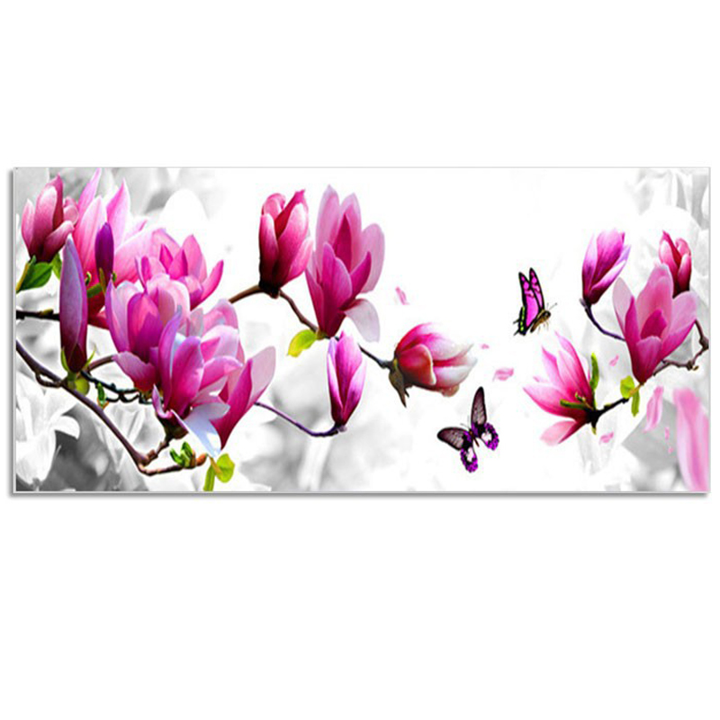 Orchid DIY Square Crystal Rhinestone Diamond Embroidery Pasted Paintings 3D Diamond Mosaic Needlework Pictures 30x60cm(China (Mainland))