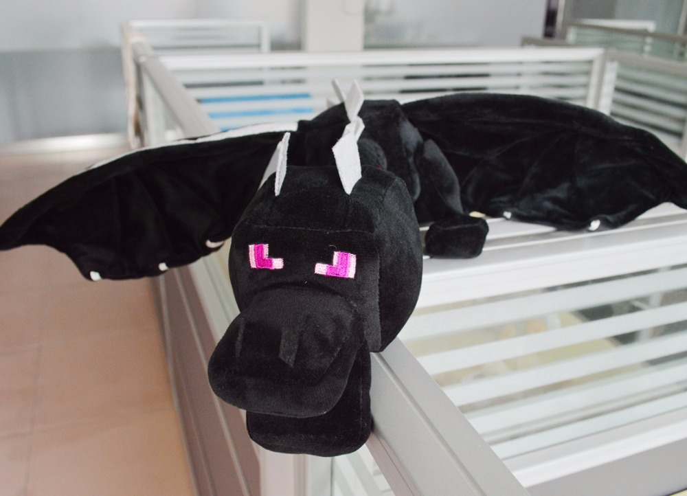60cm Huge Big minecraft ender dragon plush soft black Minecraft enderdragon PP cotton minecraft dragon Toys(China (Mainland))