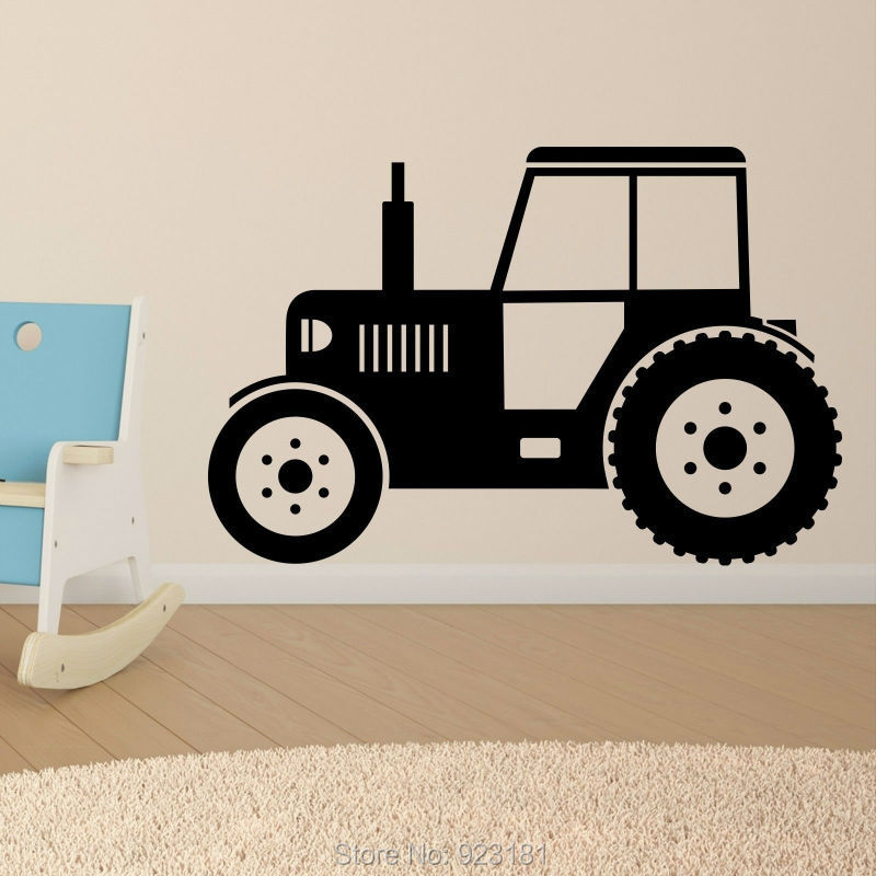 Farm Wall Art promotion hot tractor silhouette farm art decal home diy