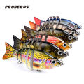 6pcs Lot 6 Sections Fishing Lure Swimbait Bait Crankbait Tackle Hook Ice Artificial Bait Fishing 10