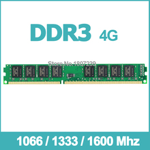 1066Mzh / 1333Mhz / 1600Mhz 4GB DDR3 Memory Ram Memoria for Desktop PC Free Shipping Lifetime Warranty Support Intel or AMD