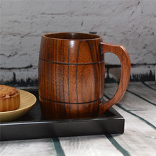 1PC Classical Wood Work Wooden Beer Tea Coffee Cup Mug Eco friendly 400ml For Gatherings Party