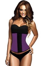 New  2016 women sexy lingerie hot corset top Black Steel Bone Latex Under Bust Corset  LC5374  plus size XS---3XL(China (Mainland))