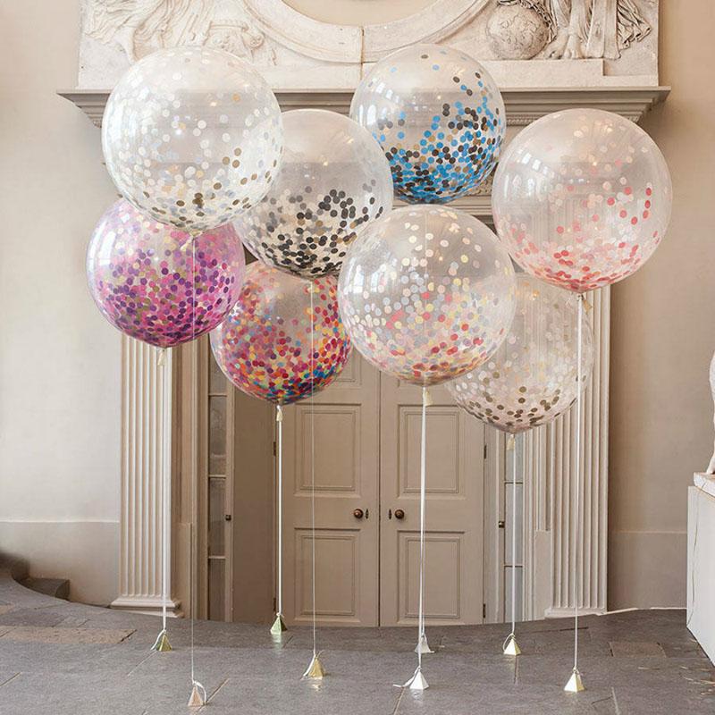 20PCs/Lot Creative 12 inch Colorful Confetti Balloon Romantic Wedding Valentine's Festival Birthday Party Decoration Supplies(China (Mainland))