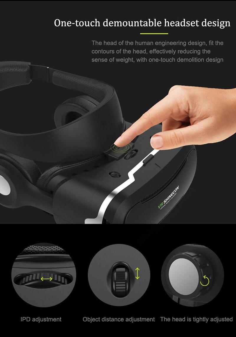 ถูก จัดส่งฟรี!ต้นฉบับSHINECON 4.0 VRความจริงเสมือนแว่นตา3DชุดหูฟังFr iosและอำเภอซำสูงและH-T-Cโทรศัพท์