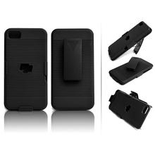 Hard Black Swivel Belt Clip Shell Holster Combo Case Stand for Blackberry Z10 cover 1pc(China (Mainland))