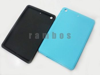 100pcs/lot Protective Silicon Soft Tablet PC Case Laptop Shell Cover for iPad Mini