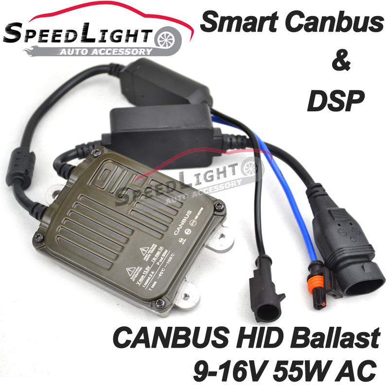 SpeedLight OEM 2PCS 100% DSP and Smart Decorder Slim Xenon HID Canbus Ballast 55W AC(China (Mainland))