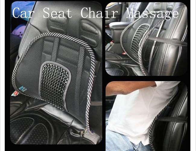 hot selling new car seat chair massage back lumbar support mesh ventilate cushion with big pearl. Black Bedroom Furniture Sets. Home Design Ideas