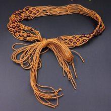 Pure manual weaving waist chain fashion han edition accessories