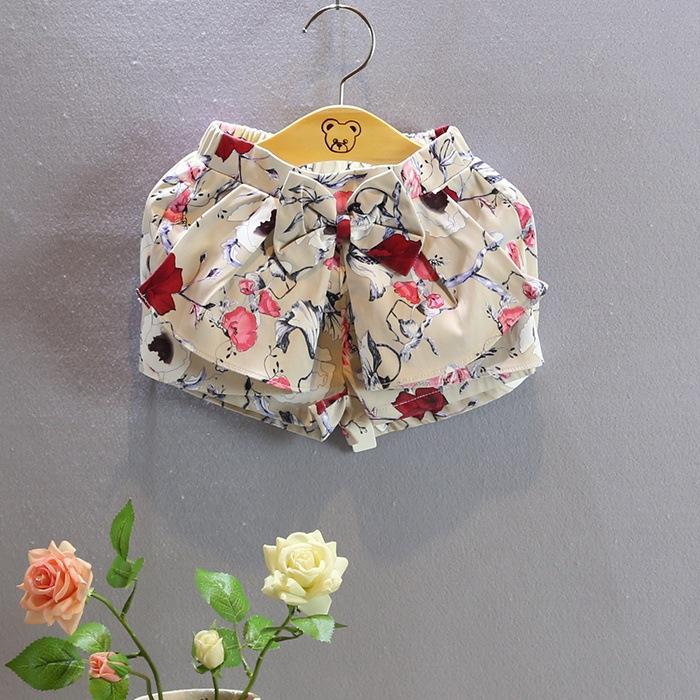 NEW ! Girls summer print bowknot shorts , shorts for kids , 5pcs/lot    YGX01<br><br>Aliexpress