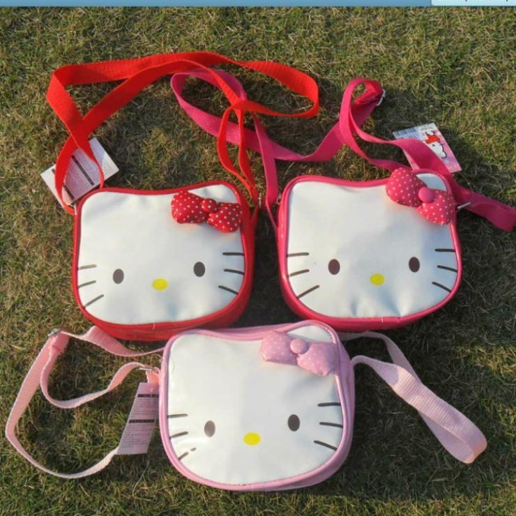 Hello Kitty bags for girls/kids school Messenger Bag with bow purse 1PC Pink/Red/Rose #10(China (Mainland))