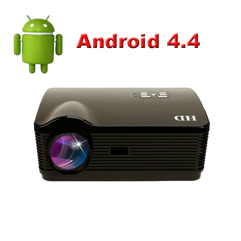 5500Lumens Quad core Android 4.4 WiFi Smart 1080P 3D Full HD LCD Home theater TV LED Projector Projektor Video Beamer(China (Mainland))
