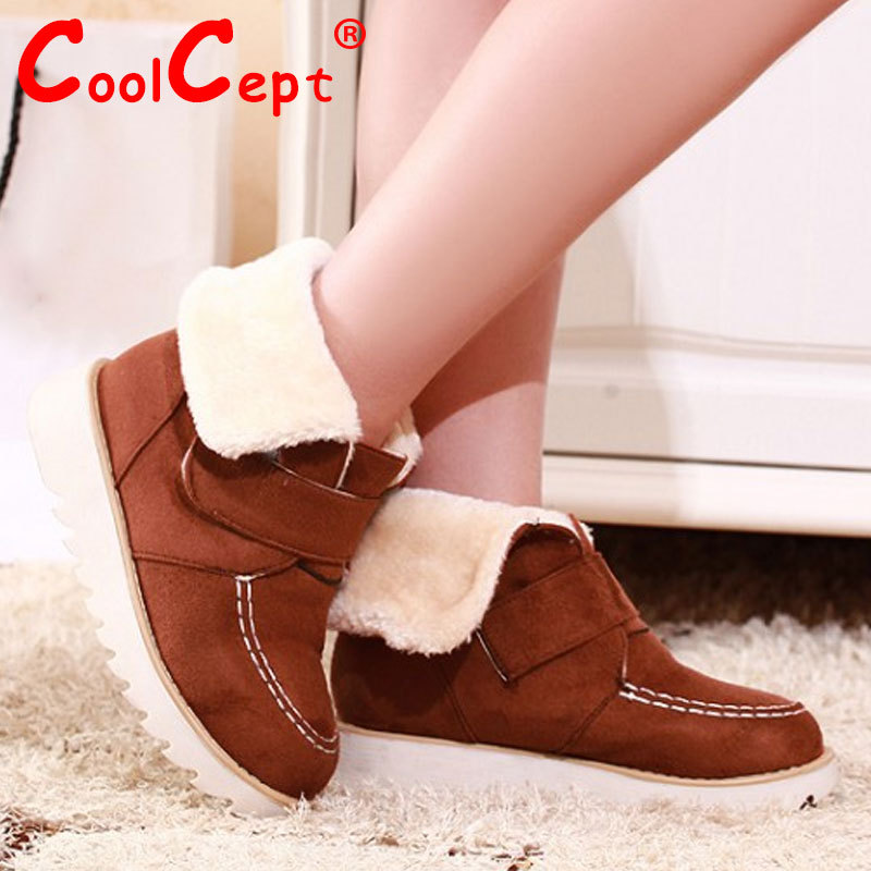 women flat half short ankle boots winter snow boot platform cotton sweet velcro footwear warm botas shoes P19549 size 33-43<br><br>Aliexpress