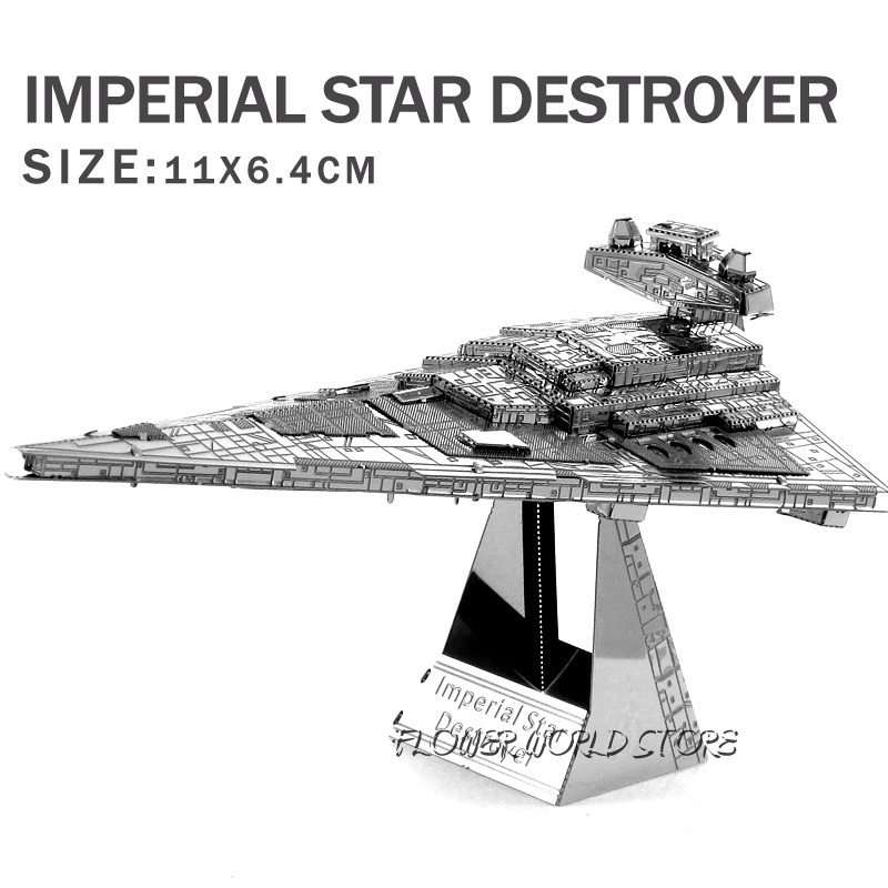 New creative Star Wars 3D model 3D metal puzzles DIY Jigsaws Imperial Star Destroyer puzzles Adult/Children gifts DIY toys(China (Mainland))