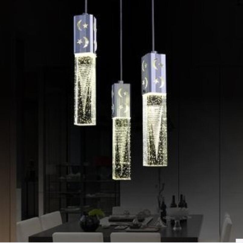 New Modern 3 Head LED Lights Bubble crystal droplight sitting room bedroom warmth restaurant bar(China (Mainland))