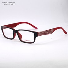 Unique Fashion Black and Red with The metal hollow out design Optical Glasses / Large square frame Glasses /Eyeglass B020
