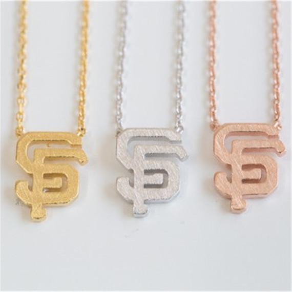 10pcs/lot SF Choker Necklace 2016 Minimalist Jewelry Statement San Francisco Charm Necklace Tattoo Silver Gold Filled Chain(China (Mainland))
