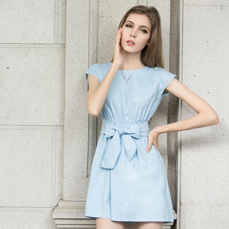2015 summer new Korean Women Slim thin cotton dress tide spotОдежда и ак�е��уары<br><br><br>Aliexpress