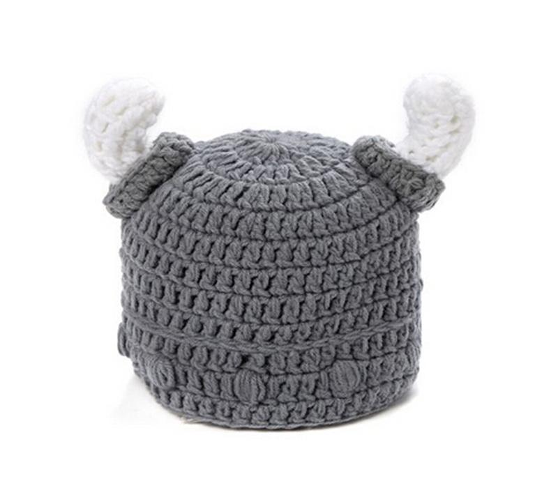 -new-Children-s-winter-hat-handmade-crocheted-Viking-horns ...