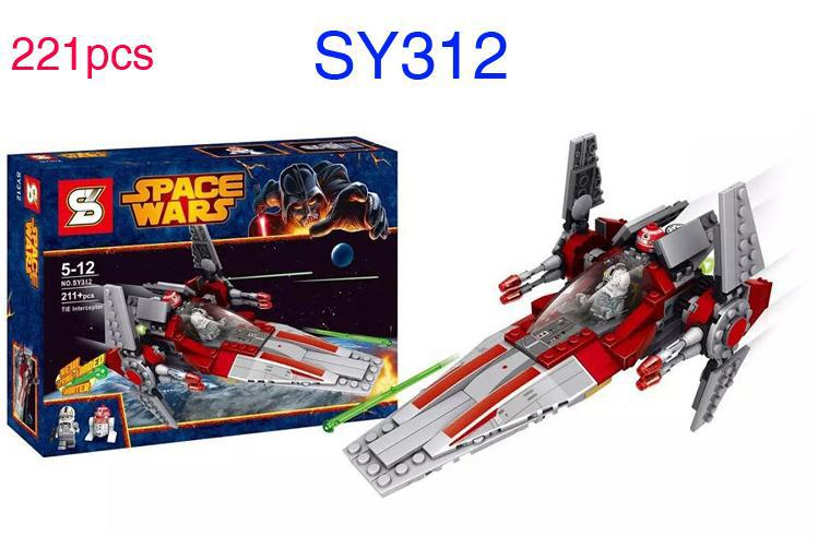 STAR WARS V-Wing Starfighter RED ASTROMECH DROID Space Ship Clone War Building Blocks Minifigure Compatible Lego - WZ import and Export Co., Ltd. store