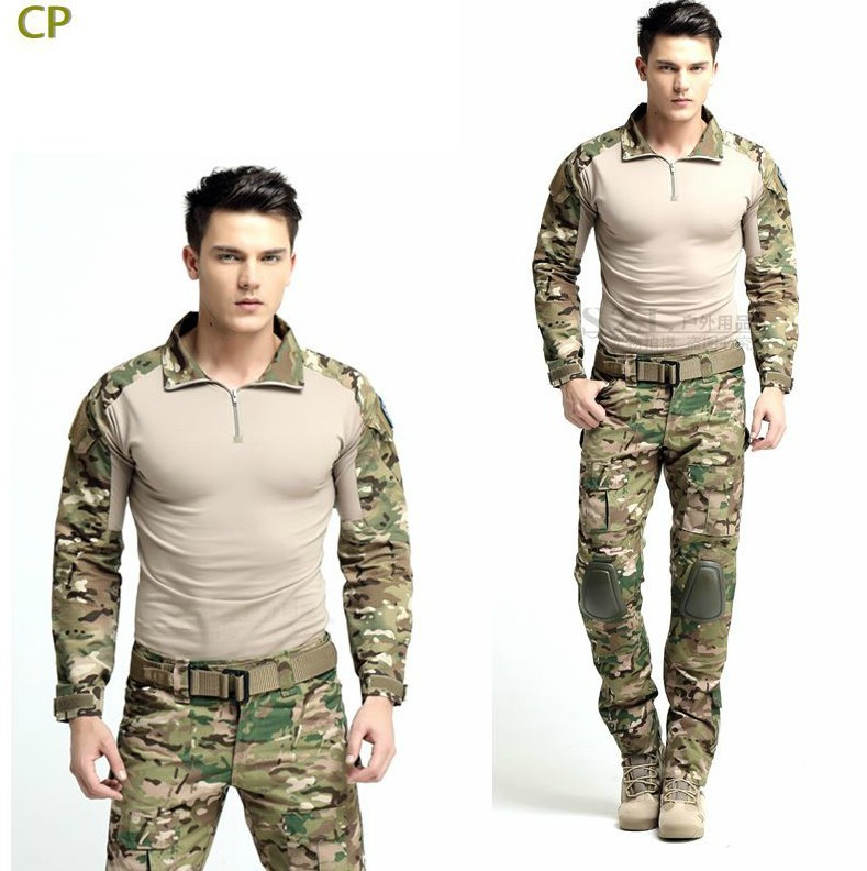 Best selling Multicam Combat Uniform Gen3 shirt + pants Military Army Suit with knee pads(China (Mainland))