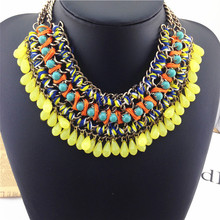 fashion necklaces for women 2014 charm women jewelry Bohemia droplets Necklaces & Pendants high quality  statement necklace