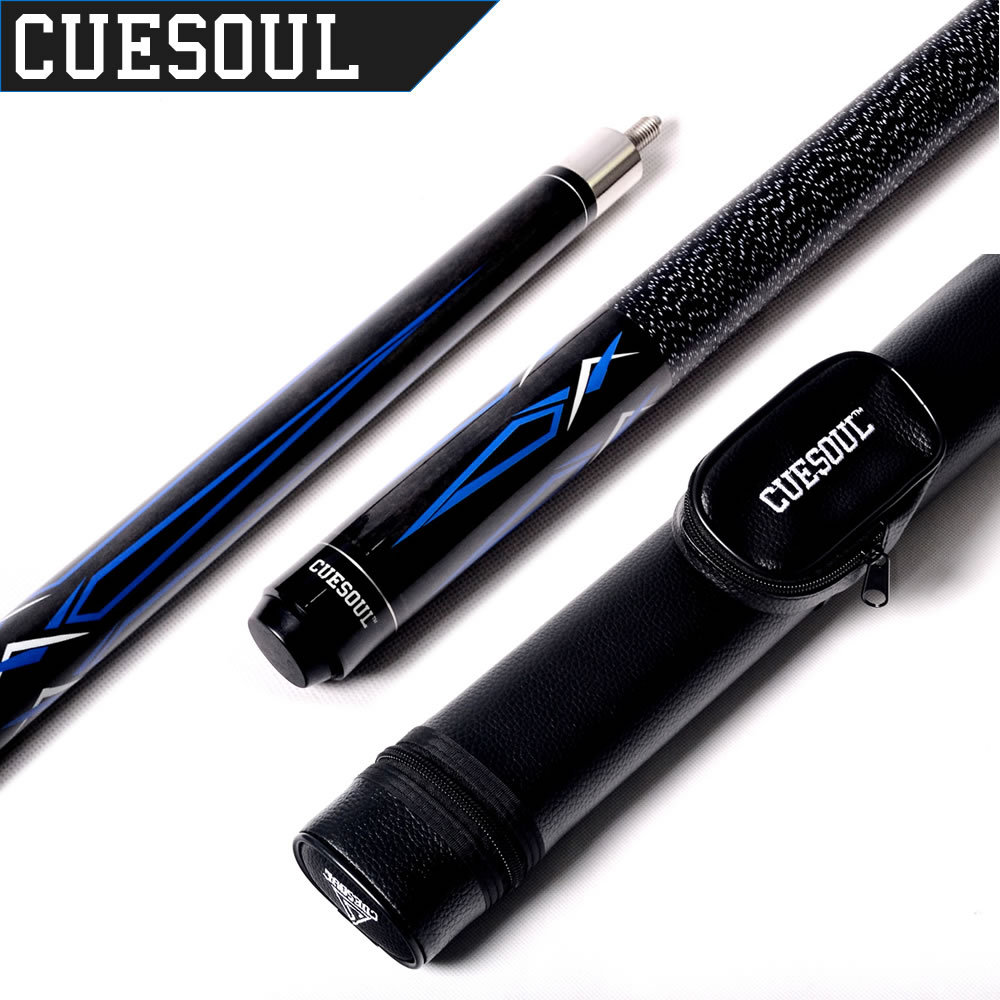 Cuesoul CSCAC002 1/2 Jointed 19 Oz Maple Pool Cue Stick With 1 Butt and 1 Shaft Billiard Cue Tube Case(China (Mainland))