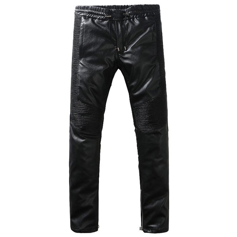 Mens fashion high quality PU leather biker pencil pants Rock and roll slim skinny long trousersОдежда и ак�е��уары<br><br><br>Aliexpress