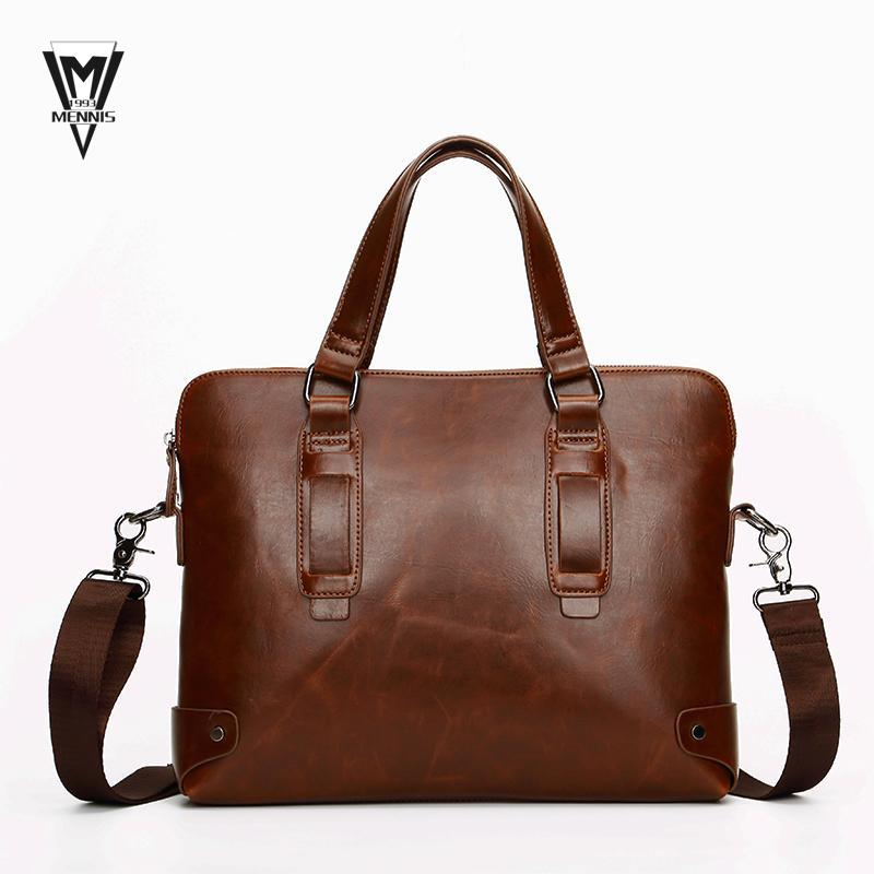2015 designer handbags high quality Men Casual Crazy Horse PU Leather Briefcase Business Computer Laptop Hand bags for men(China (Mainland))