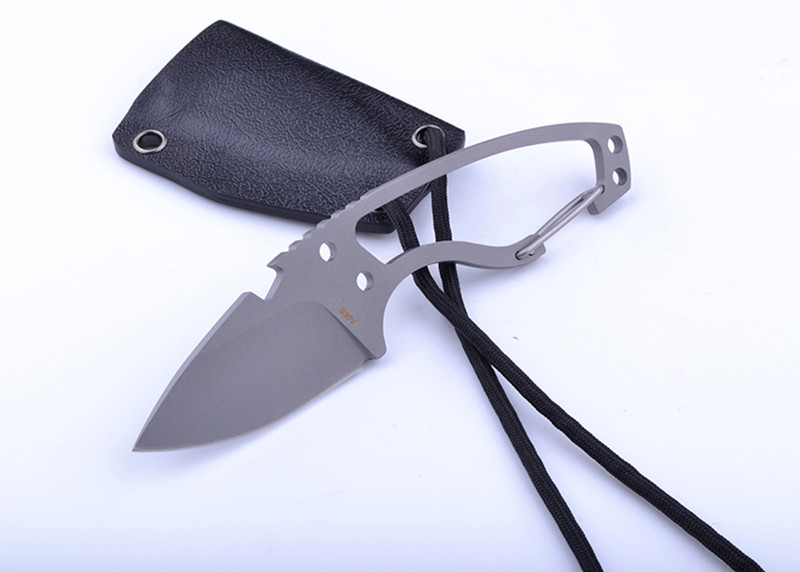 Buy WOLF TATOO Brand Pocket Tactical Fixed Blade Knife With CPM S30V Blade Outdoor Hunting Camping Survival Straight Knives EDC Tool cheap
