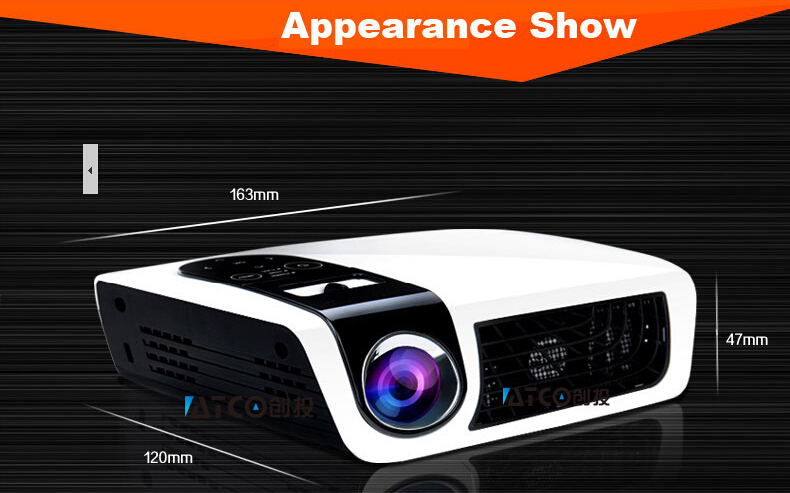 Promotion C5D 1000 ansi lumens 3LED mini pocket 3D 1080p projector proyector projetor beamer,perfect home theater - WZSZBH store