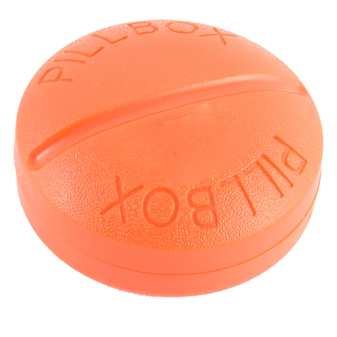 UXCELL Plastic Round Shaped Daily Pill Medicine Storage Case Box Container Orange(China (Mainland))