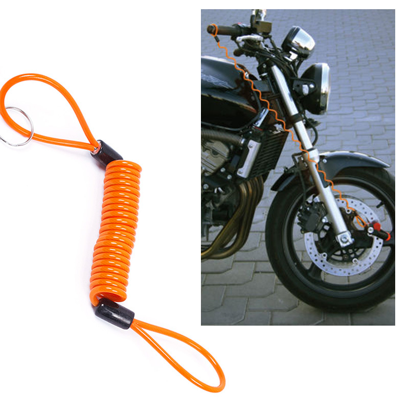New Convenient Motorcycle Bike Scooter Alarm Disc Lock Security Spring Reminder Cable Tight #58404(China (Mainland))
